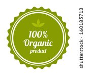 100  organic product badge and... | Shutterstock .eps vector #160185713
