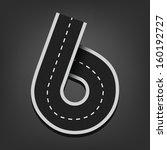 Six Number. Road Font