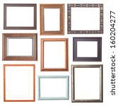 wood frame collection on white... | Shutterstock . vector #160204277
