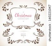 christmas holly plant... | Shutterstock .eps vector #160221047
