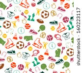 seamless pattern with sport... | Shutterstock .eps vector #160223117