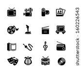multimedia computer icon set | Shutterstock . vector #160226543