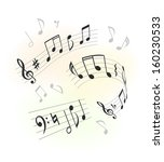music design elements | Shutterstock .eps vector #160230533