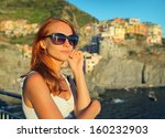beautiful woman traveling | Shutterstock . vector #160232903