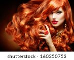 Постер, плакат: Long Curly Red Hair