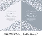 floral invitation cards  | Shutterstock .eps vector #160256267