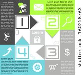 infographics checkerboard... | Shutterstock .eps vector #160258763