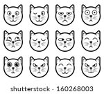 vector icons of cat smiling...