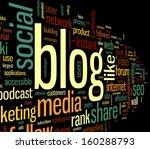 blog and social media concept... | Shutterstock . vector #160288793