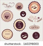 collection of vintage coffee... | Shutterstock .eps vector #160298003