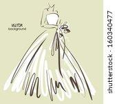 art sketch  6 of beautiful... | Shutterstock .eps vector #160340477