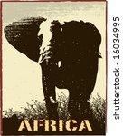 Africa Image With Elephant...