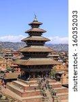 nayatapola temple nepal | Shutterstock . vector #160352033