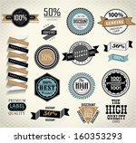 vintage labels set  quality and ... | Shutterstock .eps vector #160353293