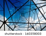 high voltage post.high voltage... | Shutterstock . vector #160358003