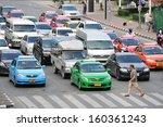 Bangkok   Oct 1  Traffic Waits...