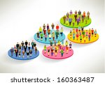 a large group of social... | Shutterstock .eps vector #160363487