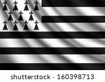 waving flag of brittany | Shutterstock .eps vector #160398713