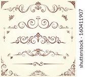 vector swirl ornate motifs.... | Shutterstock .eps vector #160411907