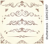 Vector Swirl Ornate Motifs....