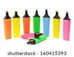 Markers Isolated On A White...