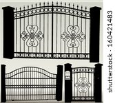 iron gates   vector | Shutterstock .eps vector #160421483