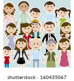 family design over  background... | Shutterstock .eps vector #160435067
