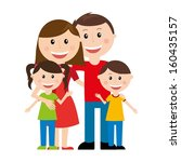 family design over white ... | Shutterstock .eps vector #160435157
