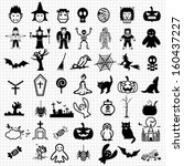 halloween icons | Shutterstock .eps vector #160437227