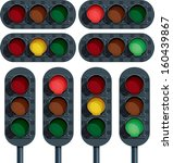 traffic lights vector | Shutterstock .eps vector #160439867