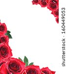 Stock photo beautiful frame made from red roses 160449053
