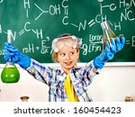 child holding flask in... | Shutterstock . vector #160454423
