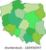 green poland map | Shutterstock . vector #160456547