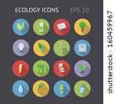 flat icons for ecology  energy...