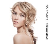 beautiful blonde girl. healthy... | Shutterstock . vector #160478723