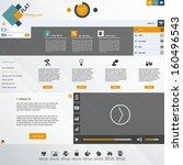 flat website design template...   Shutterstock .eps vector #160496543