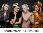 for beautiful young girls... | Shutterstock . vector #160498703