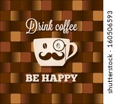 coffee cup concept background | Shutterstock .eps vector #160506593