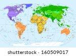 high detailed political world...   Shutterstock . vector #160509017
