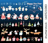 collection of christmas design... | Shutterstock .eps vector #160521083