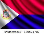 waving flag of saint martin | Shutterstock .eps vector #160521707
