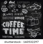 vector chalk coffee on...   Shutterstock .eps vector #160532297