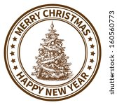 christmas and new year stamp...