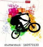 biker. vector illustration | Shutterstock .eps vector #160573133