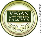 vegan   not tested on animals... | Shutterstock .eps vector #160582253