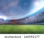 stadium football  | Shutterstock . vector #160592177
