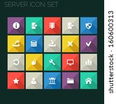 trend server icons with long...