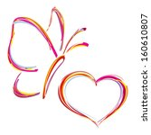 Painted Heart And Butterfly....