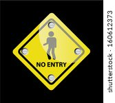 no entry sign on black... | Shutterstock .eps vector #160612373