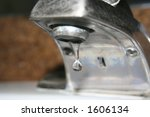 a drip of water from a faucet | Shutterstock . vector #1606134